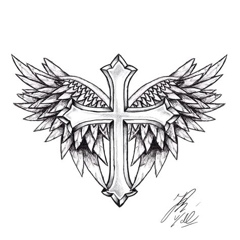 winged cross tattoo designs cross wings tattoos desighns tattoos designs