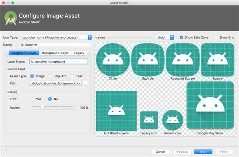 how to create a folder on android create app icons with image asset studio android studio