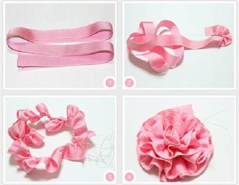 como hacer flores en cinta o liston goshii youtube tutoriales de flores de liston y tela flor enrollada paso