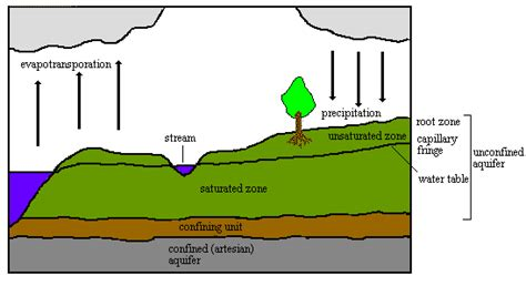 saturated diagram ground water basics hydrogeology terms