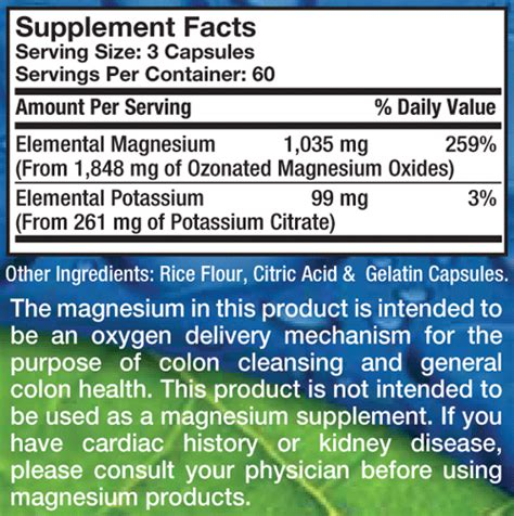 mag o supplement aerobic mag o7 oxygen digestive system cleanser 180