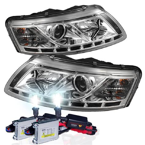 audi a6 headlights hid xenon 2005 2008 audi a6 led drl projector headlights