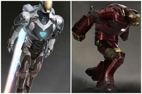 Kaos Ironman Irnmn33 iron 3 concept designs reveal space suit hulkbuster