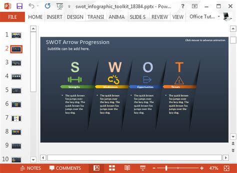 templates for powerpoint com animated swot analysis template for powerpoint