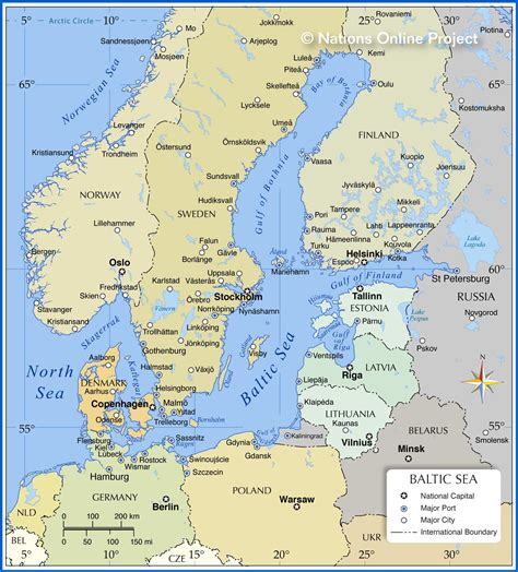 map of baltic sea map of the baltic sea region nations project