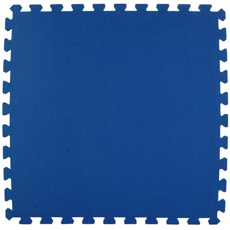 Home Depot Puzzle Mats by Greatmats Economy Foam Blue 2 Ft X 2 Ft X 1 2 In