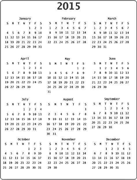 printable year calendar 2015 uk 2015 calendar