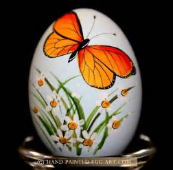 hand painted egg art designs by margit jakab butterfly