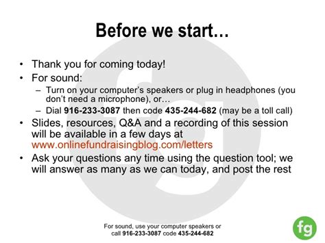 Thank You Letter For Coming Effective Fundraising Emails And Letters Webinar