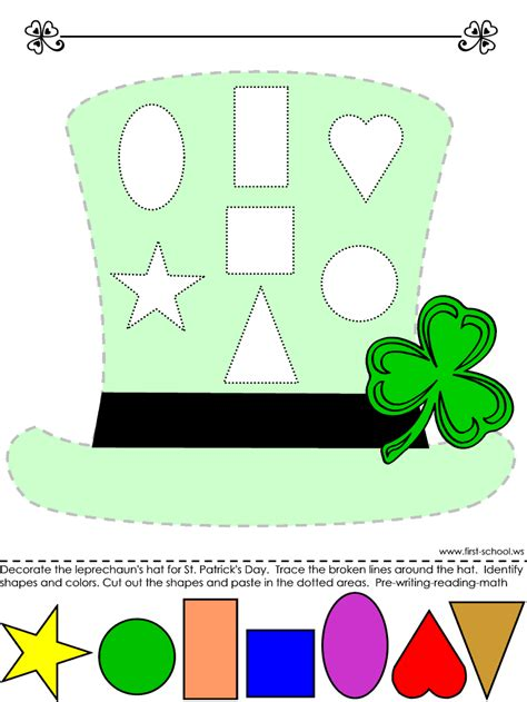printable learning shapes 18 st patrick s day free printable kid s activities