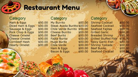 mexican restaurant menu design www imgkid the
