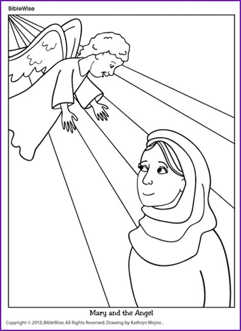 free coloring pages angel and mary coloring mary and the angel kids korner biblewise