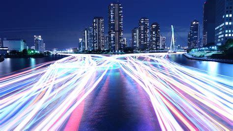wallpaper city light night river   architecture