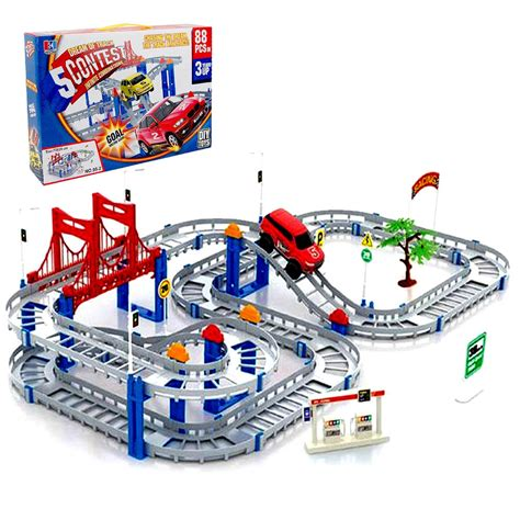 Mainan Anak Laki Track Racer Cars mainan edukasi car track 88 pieces do it yourself toys mainan anak laki diy best seller