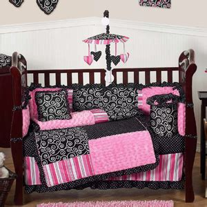 Black And Pink Crib Bedding Sets Pink And Black Boutique Baby Bedding 9 Pc Crib Set Only 189 99