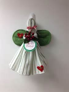 Kitchen Towel Craft Ideas Dish Towel Angel Pairofpetals Com Craft Ideas Pinterest