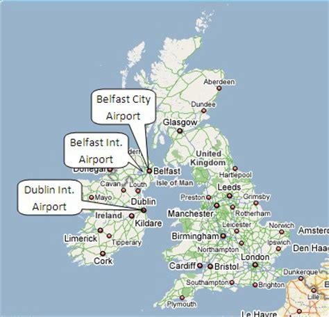map uk international airports location