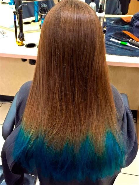 dyed hairstyles for brown hair dip dye hair color ideas for 2017 page 2 best hair