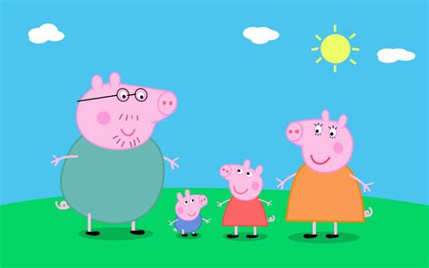 peppa pig peppa and a lovely day for english peppa pig characters