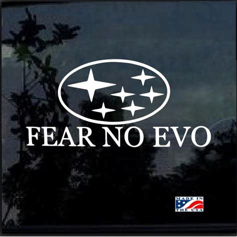 subaru wrx decals fear no evo subaru sti wrx brz awd decal sticker custom