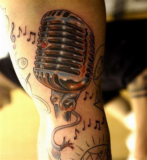 microphone tattoo small 44 best images about musical tattoos on pinterest