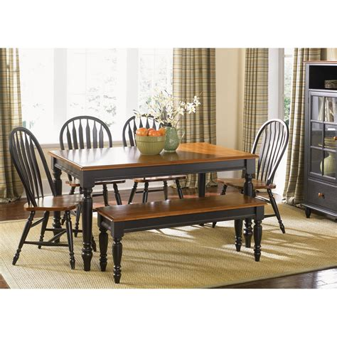 liberty furniture country black rectangle leg dining table dining tables hayneedle