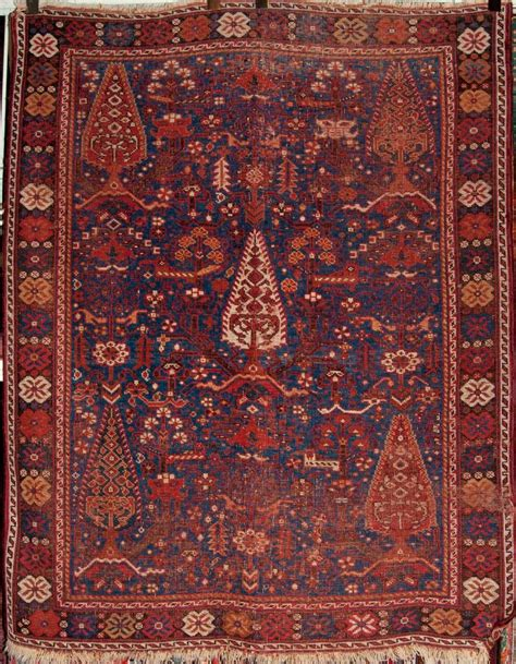 Antique South West Persian Cypress Afshar Rug Ca 1880 Antique Rugs