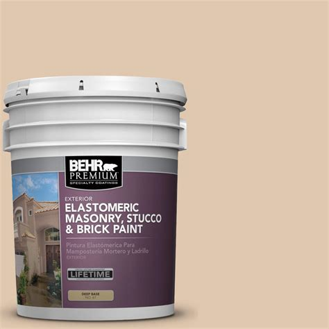 behr premium 5 gal n260 2 almond latte elastomeric masonry stucco and brick paint 06805 the