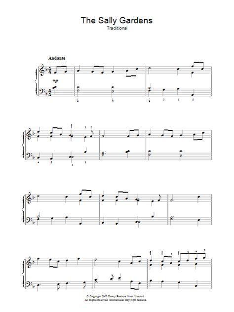 Sally Gardens Lyrics by The Sally Gardens Sheet Direct