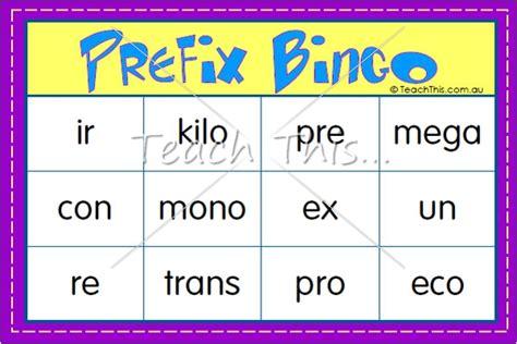 printable prefix games prefix bingo fun printable classroom games and