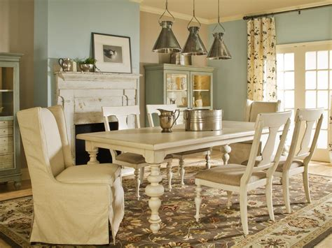 Cottage Style Dining Room Furniture Spice Up Your Dining Room With Stylish Slipcovers Living Room And Dining Room Decorating Ideas