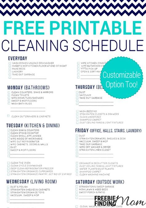 cleaning calendar template 1000 images about printables on free