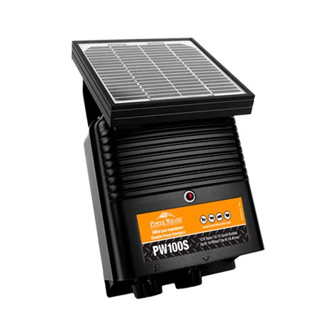 electric fence solar charger solar powered electric fence charger ramm fencing