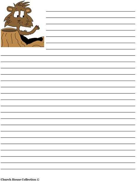 picture and writing paper church house collection groundhog day writing paper