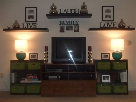how to decorate a shelf in living room photo displays this and pictures on