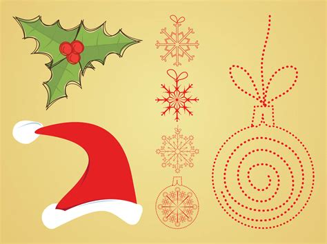 vector christmas decorations vector art graphics