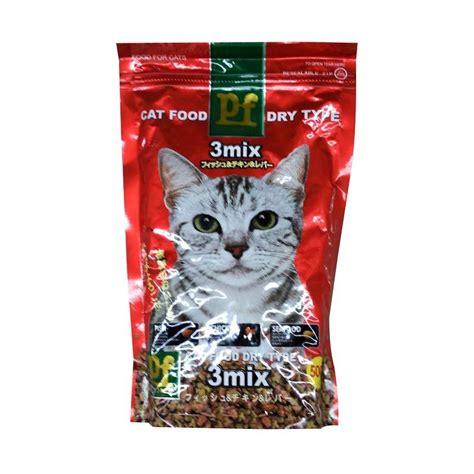 Produk Brand Jio Cat Food jual pet forest pf cat food 3 mix makanan kucing 500 g