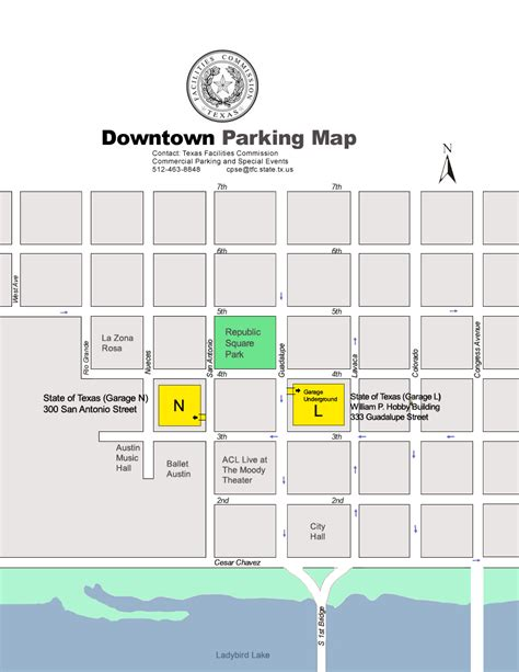 texas capitol complex map commercial parking and special events mystery program texas facilities commission