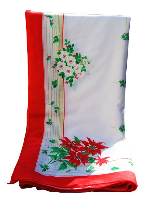 1950 s rectangular christmas tablecloth chairish