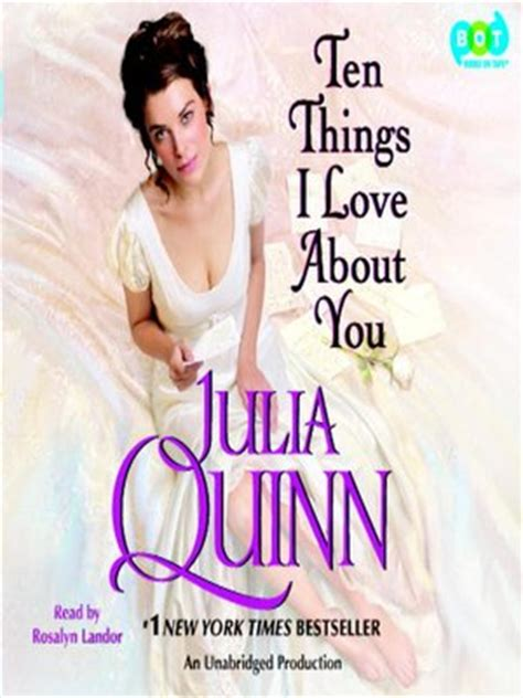 Ten Things I About You Quinn Ten Things I About You By Quinn 183 Overdrive