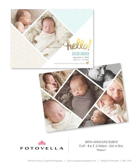 35 best birth announcement templates images on
