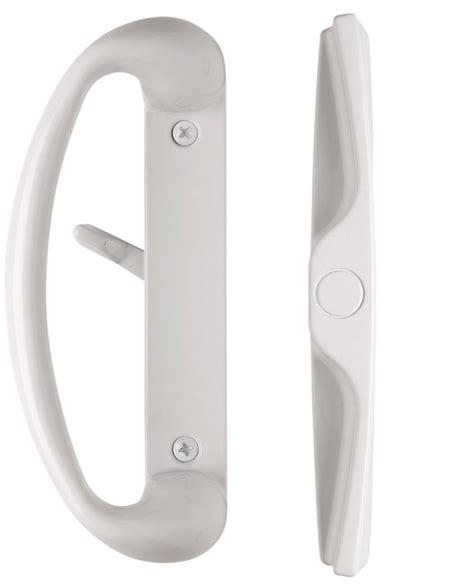 White Sliding Glass Door Handle Cambridge Sliding Glass Door Handle Set In Color White