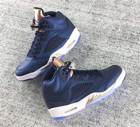 Air 5 Retro Metallic Bronze Legit air 5 bronze obsidian olympic release date sneaker bar detroit