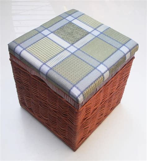Laundry Stool With Storage by Strong Wicker Laundry Basket Padded Storage Stool