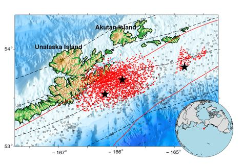 earthquake frequency slow earthquakes occur continuously in the alaska aleutian