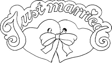 married colouring pages