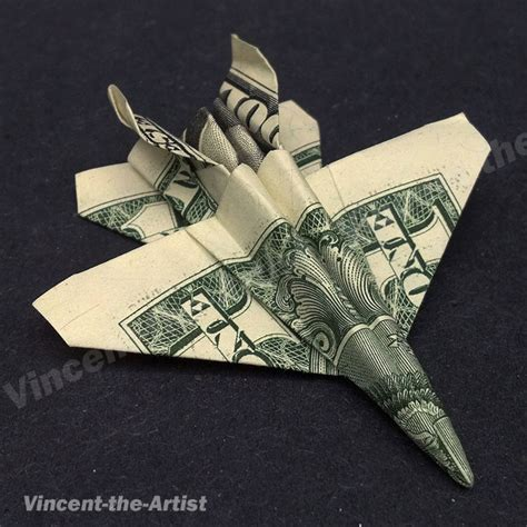 Dollar Bill Origami Plane - money origami jet fighter f 18 airplane dollar bill