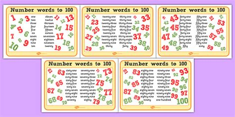 indonesian numbers 1 100 printable number words up to 100 mats numbers numeracy visual aids