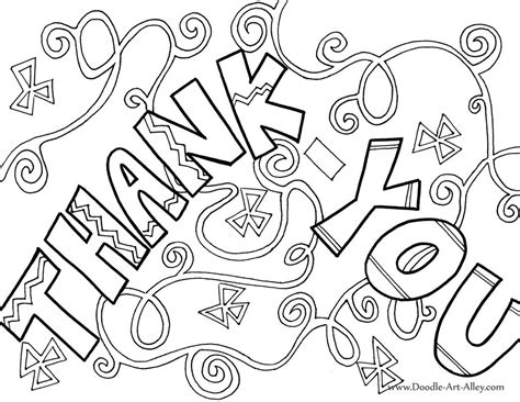 printable coloring pages thank you greeting card coloring pages doodle art alley