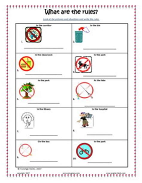 Survival Signs Worksheets by Safety Signs Grade Worksheets